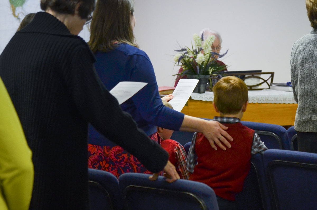 Congregational singing with piano